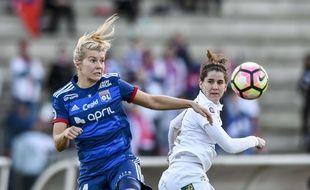 Ada Hegerberg, ici en février lors d'un match de D1 face à Juvisy, a inscrit un doublé ce dimanche contre Rodez (8-0).