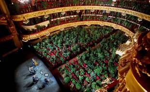 Espagne : Premier concert dans un opéra de Barcelone devant 2.200 plantes
