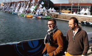 Le maire du Havre Luc Lemonnier avec son prédécesseur Edouard Philippe. (Illustration)