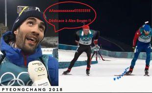 Martin Fourcade trolle Alex Boyon