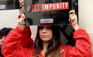 Une membre de Reporters Sans Frontières (photo d'illustration)