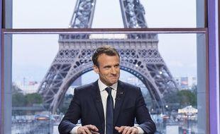Emmanuel Macron sur BFMTV le dimanche 15 avril 2018.