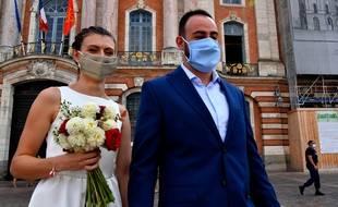 Un mariage pendant la crise sanitaire du Covid-19 (illustration).