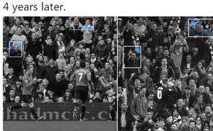 Rooney il y a quatre ans sous le maillot de MU vs Rooney lundi soir avec Everton, sous les yeux ravis des supporters de Manchester City.