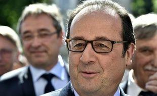Francois Hollande à Aubussonon le 10 juillet 2016