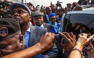 L'opposant historique congolais, Étienne Tshisekedi (C), arrive à Kinshasa, le 27 juillet 2016