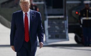 Donald Trump arrive à Washington à bord d'Air Force One, le 26 septembre 2019.