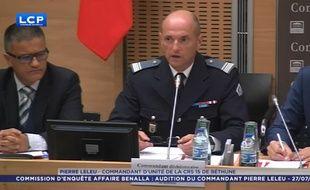 Pierre Leleu, commandant d'unité de la CRS 15 de Béthune, auditionné par la commission d'enquête dans l'affaire Benalla, le 27 juillet 2018.