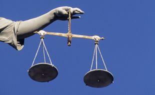 La balance de Thémis, symbole de la Justice. Illustration.
