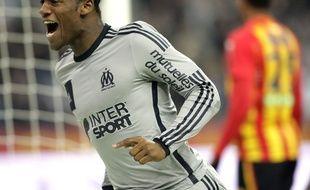 Michy Batshuayi au stade de France contre Lens, le 22 mars 2015.
