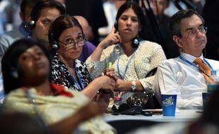 Des représentants de pays à la Conférence de l'ONU sur le climat, le 13 décembre 2014 à Lima