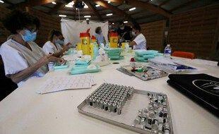 Dabs un centre de vaccination, ici à Perpignan. (illustration)