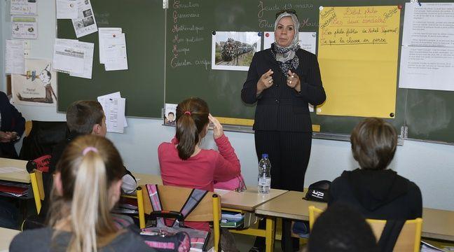 Latifa Ibn Ziaten lors d'une intervention à l'école Jean Dargassies à Eaunes, le 19 mars 2015. –  Crédit PASCAL PAVANI / AFP