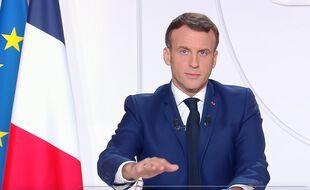 Emmanuel Macron, lors de son allocution le 24 novembre 2020.