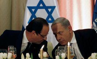 François Hollande et Benjamin Netanyahou à Jérusalem, en Israël, le 18 novembre 2013.