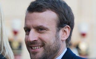 Le ministre de l'Économie, Emmanuel Macron, arrive à l'Élysée le 4 janvier 2016.