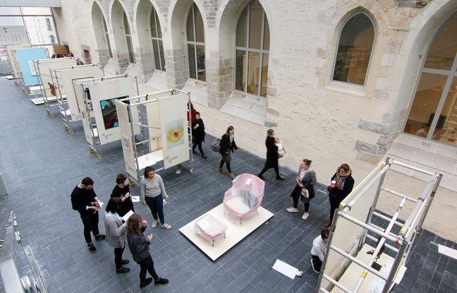 Des oeuvres seront mises en vente au profit d'enfants malades du CHU de Rennes. Ici exposées au sein du couvent des Jacobins, le nouveau centre des congrès.