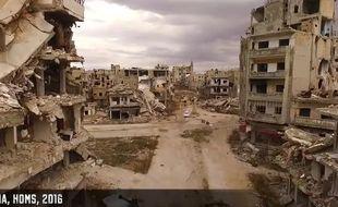 Le décor de désolation de la ville syrienne de Homs, ravagée par la guerre, le 26 janvier 2016.