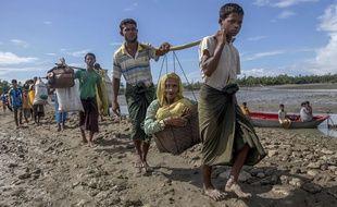 Des Rohingyas réfugiés au Bangladesh.