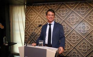 L'ancien Premier ministre Manuel Valls lors d'une conférence de presse à Barcelone le 26 septembre 2018.