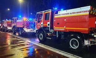 Des pompiers des Alpes-Maritimes (illustration).