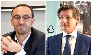 Thomas cazenave (à gauche) et Nicolas Florian feront liste commune pour le deuxième tour des municipales à Bordeaux