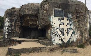Bunker sur le littoral atlantique, à Soulac (Gironde, Nouvelle-Aquitaine). Blockhaus. Mur de l'Atlantique.