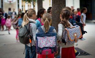 Des éleves d'une école promaire en septembre 2017.Credit:CHAMUSSY/SIPA