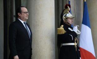 François Hollande le 17 février 2016 à l'Elysée à Paris