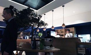 La salle du restaurant Erh, au coeur de la Maison du saké