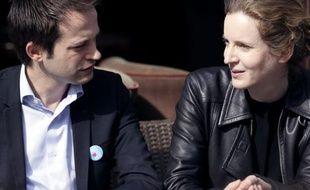 Pierre-Yves Bournazel et NKM le 17 avril 2013 à Paris.