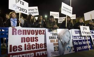 Une marche de mémoire en l'honneur de Lee Zeitouni, le 8 décembre 2011, à Tel Aviv (Israël).