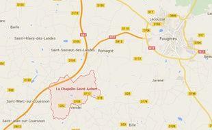 Les faits se sont déroulés dimanche à l'aube sur l'A84 au niveau de la commune de La Chapelle-Saint-Aubert.