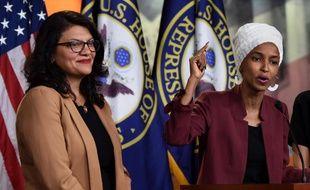 Les élues américaines Rashida Tlaib et Ilhan Omar le 15 juillet 2019.