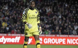 Apoula Edel, le gardien du PSG, le 31 octobre dernier lors d'un match à Montpellier.