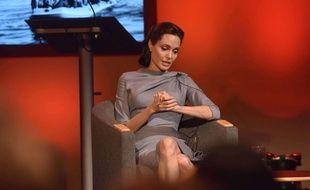 Angelina Jolie lors d'une conférence organisée par la BBC à Londres le16mai 2016.