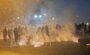 Des affrontements entre manifestants et forces de l'ordre dimanche 26 janvier à Paris à la fin de la manifestation du collectif «Jour de colère».