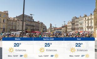 Météo Bordeaux: Prévisions du samedi 11 juillet 2020