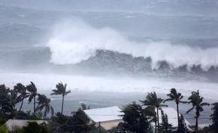 Saint-Gilles balayé par le cyclone Bejisa le 2 janvier 2014 à la Réunion