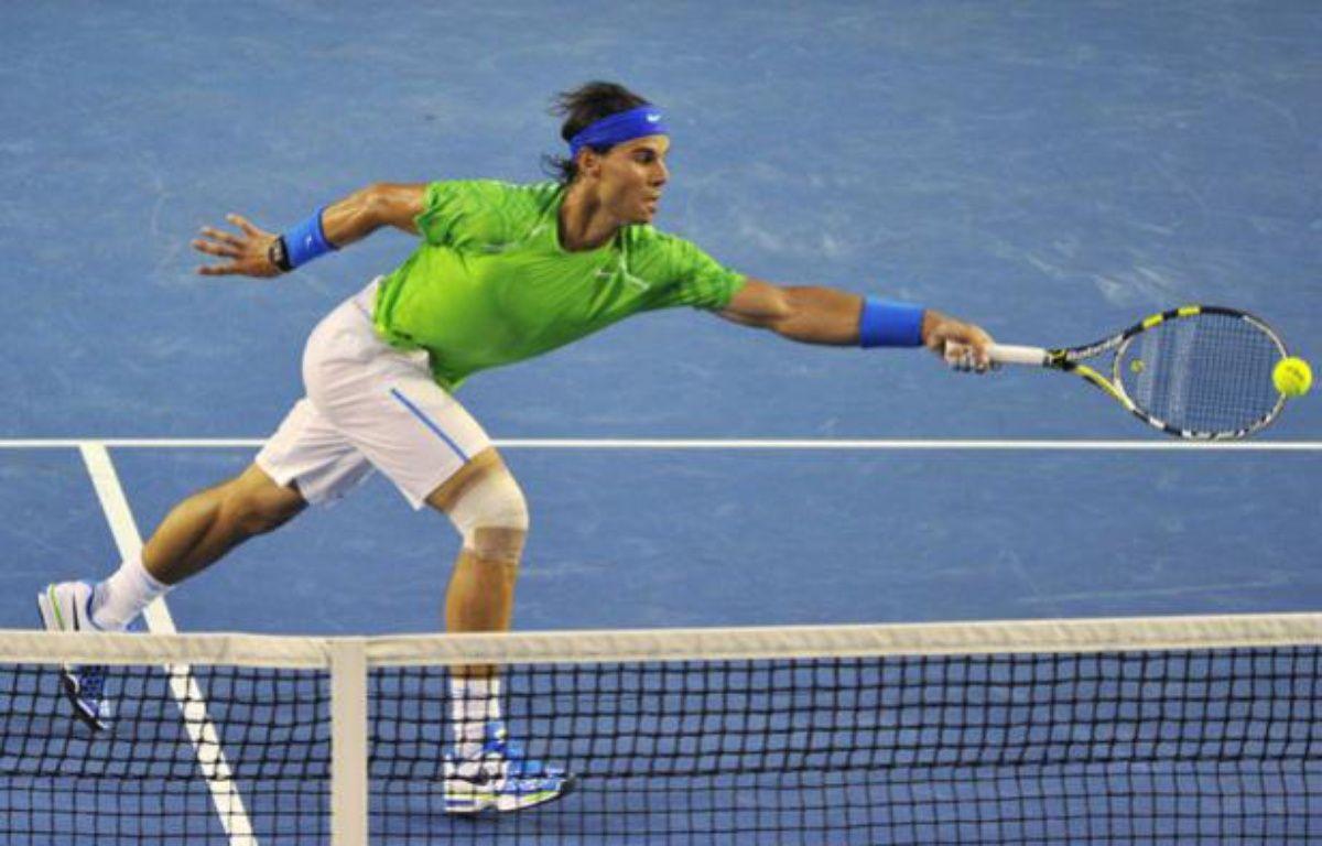 L'Espagnol Rafael Nadal, le 29 janvier 2011, en finale de l'Open d'Australie contre Novak Djokovic. – REUTERS/Toby Melville