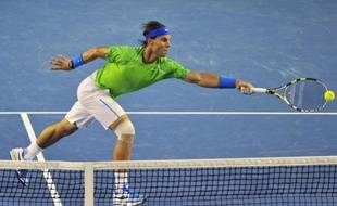 L'Espagnol Rafael Nadal, le 29 janvier 2011, en finale de l'Open d'Australie contre Novak Djokovic.