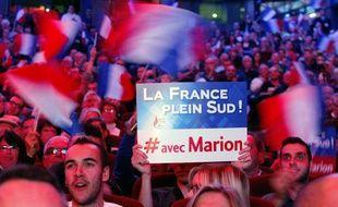 Des militants FN au meeting de Marion Maréchal-Le Pen le 1er décembre 2015 à Toulon.
