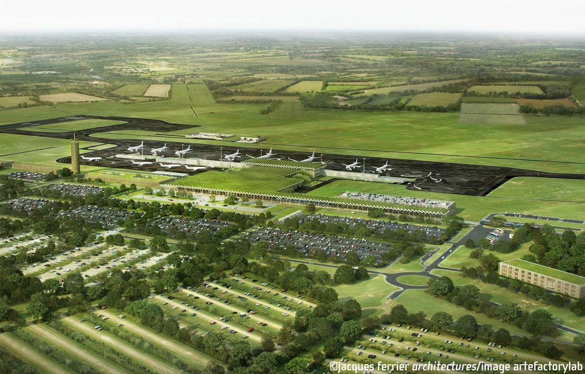 Image de synthese du projet d' aeroport de Notre-Dame-des-Landes – JFA-artefactory