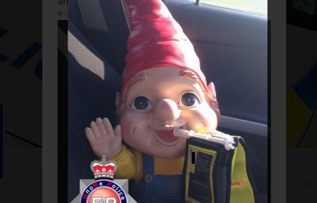 Capture d'écran du tweet posté par la police locale anglaise.