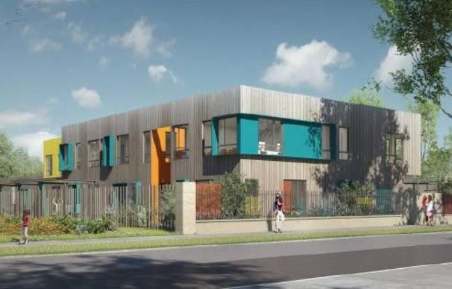Image de la future école sur l'île de Nantes
