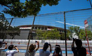 Le stade olympique Tokyo, zone interdite au public lors de la cérémonie d'ouverture des JO 2021.