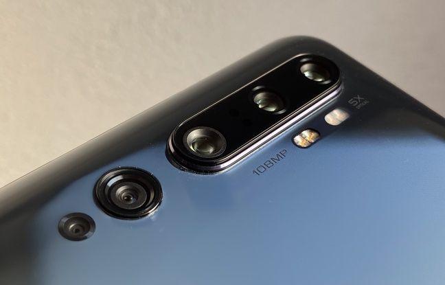 Le Xiaomi Mi Note 10 aligne 5 modules photo arrières, dont un de 108 mégapixels.