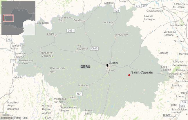 Le village gersois de Saint-Caprais se situe à une vingtaine de kilomètres d'Auch.