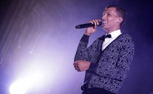 Lille, le 17 decembre 2013. Le chanteur belge Stromae en concert a l'Aeronef.