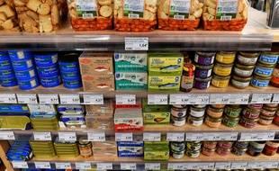 Un supermarché, ici en France hexagonale. (illustration)